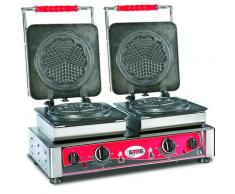 GMG - Waffeleisen Amore-M - 2x (Ø 17cm) - Wechselbare Backplatte Sehr einfach Montage - 50° bis 300°C - Leichte Reinigung