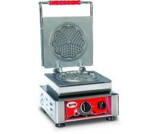 GMG - Waffeleisen Amore-S - 1x (Ø 16cm) - Wechselbare Backplatte Sehr einfach Montage - 50° bis 300°C - Leichte Reinigung