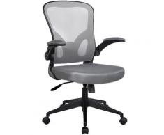 Bürostuhl Ergonomisch Drehstuhl Schreibtischstuhl Mesh Netzstoff office Stuhl Schwarz / Grau ohne Kopfstütze