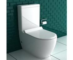 Stand Dusch WC mit Spülkasten und GEBERIT Spülgarnitür I Abnehmbarer WC-Sitz mit Absenkautomatik   Integrierte Bidet Funktion