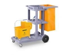ulsonix Set Reinigungswagen mit Wäschesack, Deckel und 1 Putzwagen