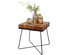 Beistelltisch Akazie 45x45cm Massivholz Telefontisch Couchtisch Tisch Wohnzimmer