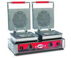 GMG - Waffeleisen Amore-S - 2x (Ø 16cm) - Wechselbare Backplatte Sehr einfach Montage - 50° bis 300°C - Leichte Reinigung