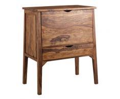 FineBuy Hausbar Sheesham Massiv Holz Schublade Barschrank Buffetschrank Kommode
