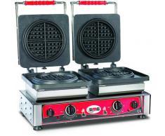 GMG - Waffeleisen American - 2x (Ø16 x 1,5cm) - Wechselbare Backplatte Sehr einfach Montage - 50° bis 300°C - Leichte Reinigung