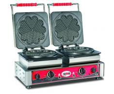 GMG - Waffeleisen Amore-L - 2x (Ø 21m) - Wechselbare Backplatte Sehr einfach Montage - 50° bis 300°C - Leichte Reinigung