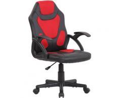 CLP Kinder Bürostuhl Dano schwarz/rot