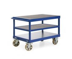 Schwerlast-Tischwagen, Serie R 2200 hochbelastbare Stahlschweißkonstruktion bis max. 2200kg