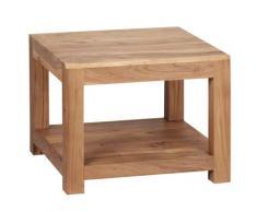 Wohnling Massivholz MUMBAI Akazie Couchtisch 60x60x45CM Wohnzimmertisch Beistelltisch