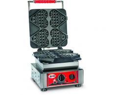 GMG - Waffeleisen Ti amo - 4x (13,2 x 12,5 x 2,8cm) - Wechselbare Backplatte Sehr einfach Montage - 50° bis 300°C - Leichte Reinigung