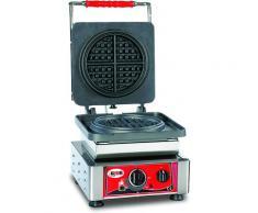 GMG - Waffeleisen American - 1x (Ø16 x 1,5cm) - Wechselbare Backplatte Sehr einfach Montage - 50° bis 300°C - Leichte Reinigung
