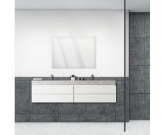 ARTland Wandspiegel Größe: 100x70 cm, rahmenlos mit Aufhänger, frei wählbar ob hoch- oder querformat, für Badezimmer, Flur oder Schlafzimmer