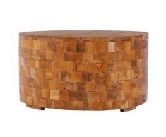 vidaXL Couchtisch 60x60x35 cm Teak Massivholz