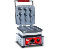GMG - Waffeleisen Bruxelles - 3x (23 x 3 x 2,4cm) - Wechselbare Backplatte Sehr einfach Montage - 50° bis 300°C - Leichte Reinigung
