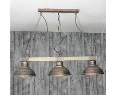 Licht-Erlebnisse LU1/4/394 Hakon Pendelleuchte 3xE27 in Kupfer Vintage Esszimmer Küche