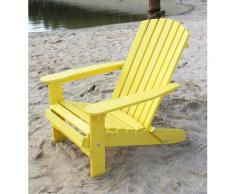DanDiBo Strandstuhl Holz Gelb Gartenstuhl klappbar Adirondack Deckchair