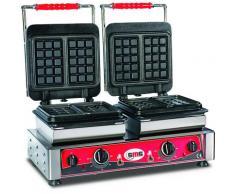 GMG - Waffeleisen Bruxelles - 4x (10,2 x 16,4 x 2,6cm) - Wechselbare Backplatte Sehr einfach Montage - 50° bis 300°C - Leichte Reinigung