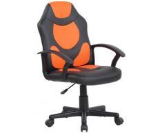 CLP Kinder Bürostuhl Adale schwarz/orange