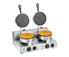 Royal Catering Doppel-Waffeleisen mit 2 x 1.300 Watt - rund RCWM-2600-R