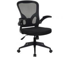 Bürostuhl Ergonomisch Drehstuhl Schreibtischstuhl Mesh Netzstoff office Stuhl Schwarz ohne Kopfstütze