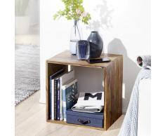 Cube Massivholz Regal Beistelltisch Tisch Holzcube Würfelregal Couchtisch