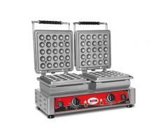 GMG - Waffeleisen Lokmia-L - 2x (Ø25 x 4,2cm x 1,2cm/2,4cm) - Wechselbare Backplatte Sehr einfach Montage - 50° bis 300°C - Leichte Reinigung