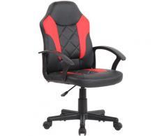 CLP Kinder Bürostuhl Tafo schwarz/rot