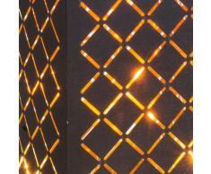 Textil Tisch Lampe schwarz Wohn Zimmer Blatt Gold Design Lese Leuchte im Set inkl. LED Leuchtmittel
