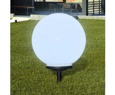 vidaXL Garten-Wegeleuchte Solar LED Kugel 1 Stk. 40 cm mit Erdspieß