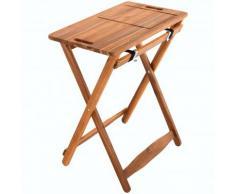 Raburg Tisch-Tablett GRILL-BUDDY in NATUR - XL Grill-Tisch aus Akazien-Holz, abnehmbares Schneidbrett & Servierplatte mit Saftrille, lebensmittelecht