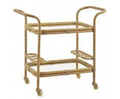 Sika Design Carlo Bar Trolley & Tisch Natural