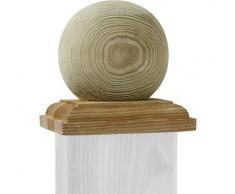 TraumGarten Sichtschutzzaun Pfostenkappe Kugel Holz
