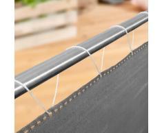 Windhager Balkonblende SYLT uni-grau Sichschutz, 25x0,9 m