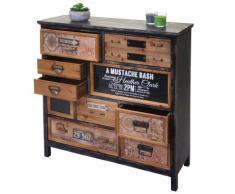 Apotheker-Schrank HWC-A43, Kommode, Tanne Holz massiv Vintage Shabby-Look 90x90x32cm ~ Variantenangebot
