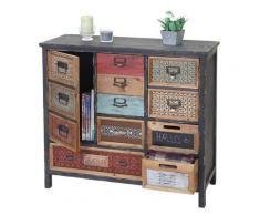 Apotheker-Schrank HWC-A43, Kommode, Tanne Holz massiv Vintage Shabby-Look 90x84x32cm ~ Variantenangebot