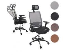 Bürostuhl HWC-A20, Schreibtischstuhl Drehstuhl, ergonomisch Kopfstütze Stoff/Textil ~ Variantenangebot