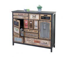 Apotheker-Schrank HWC-A43, Kommode, Tanne Holz massiv Vintage Shabby-Look ~ Variantenangebot