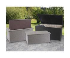 Poly-Rattan Kissenbox HWC-D88, Gartentruhe Auflagenbox Truhe ~ Variantenangebot