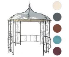 Pergola Almeria, Rundpavillon Garten Pavillon, stabiles Stahl-Gestell ~ Variantenangebot