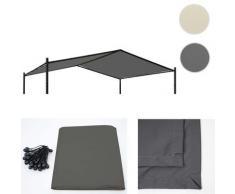 Bezug für Dach Pergola HWC-A42, Ersatzbezug Pavillon, 4x3m Polyester ~ Variantenangebot