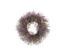 Osterdekoration Kranz Violett / Grün Blumenmotiv Holz rund ø 50 cm Türdeko Flur Wohn- und Schlafzimmer