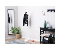Kleiderständer Weiß Kiefernholz Zementplatte Stahl 170 cm Modern Stilvoll Praktisch Flur