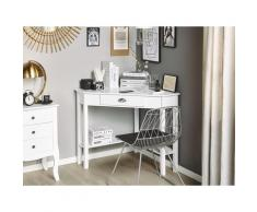 Eckschreibtisch Weiß 80 x 70 cm mit Schublade Modernes Design Arbeitstisch Kindertisch Kinderzimmer