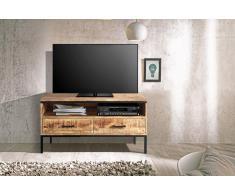 Lowboard TV-Board Mangoholz massiv 100 x 50 x 40 cm ARTA 3