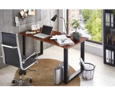 Schreibtisch Baumkante massiv Akazie nussbaum 140x80 schwarz