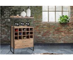 Weinregal Akazienholz stonefarben massiv Weinschrank für 15 Flaschen Moskau