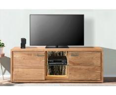 Lowboard TV-Board 175 x 63 x 40 cm Akazienholz stonefarben KATI