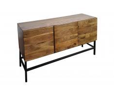 Sideboard 120 x 30 x 60 cm Akazienholz massiv & nussbaum NAGAR 4
