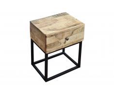Nachttisch 40 x 30 x 50 cm Akazienholz massiv & natur NAGAR 1