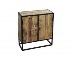 Sideboard 70 x 30 x 75 cm Akazienholz massiv & natur NAGAR 1